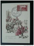 Carte Maximum Card Journée Du Timbre 1948 Casablanca Maroc - Briefe U. Dokumente