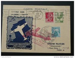Carte Exposition Philatélique Prisonnier Alger 1946 Algérie - Briefe U. Dokumente