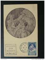 Carte Maximum Card Journée Des Mères Bordeaux 1943 - 1940-49