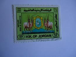 JORDAN    USED    STAMPS  ANIMALS DEER - Jordania