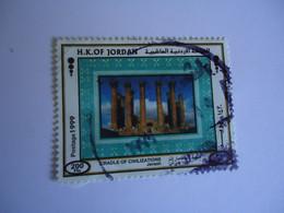 JORDAN    USED    STAMPS   MOMUMENTS - Jordania
