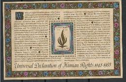 ONU New York 1988 40 E Anniversaire Des Droits De L'homme MNH - Sin Clasificación