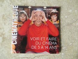 Petit Dépliant Publicitaire Contemporain Cinémathèque Française Paris LOUIS DE FUNES Au Programme ! - Advertising