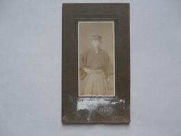 PHOTO ANCIENNE - JAPON : Homme En Costume Traditionnel - Légende Au Verso - Persone Identificate
