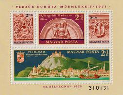 Europäisches Denkmalschutzjahr - Tag Der Briefmarke 1975 Mi Block 115 A - Blocks & Sheetlets