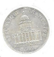 Piece De 100 Francs De 1982 En Argent - N. 100 Francs