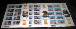 3772/74** De Tram Van Vandaag In Zijn Omgeving /  Le Tram Dans Son Environnement (Kusttram,Brussel,Charleroi) PL 2-2-2 - Hojas