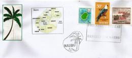 Lettre île NAURU (Central Pacific) Avec Timbre Et Carte De L'île, Oblitération Republic Of Nauru - Nauru