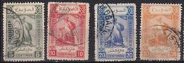MAROC -Mazagan à Marrakech - Courrier Allemand - 4 Valeurs Oblitérées - Locals & Carriers