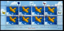 2001 Switzerland 100 Years Of Aero Club Of Switzerland Doubledecke Airplane Sheetlet Canceled MiNr. 1746 Aviation - Blocks & Sheetlets & Panes