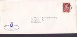 Denmark MOTORGAARDEN Sv. Boel Jensen, Brotype IId SKIVE 1947 Cover Brief KØBENHAVN Le Rømer, Astronom Stamp - Briefe U. Dokumente