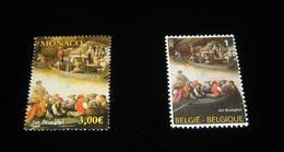 BELGIQUE 4254** + Emission Commune Avec MONACO / HSH Prince Albert II - Tableau De Jan Brueghel MNH -RRR - Nuevos