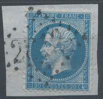 Lot N°59489  N°22/fragment, Oblit GC 2812 Périers, Manche (48), Ind 5 - 1862 Napoleon III