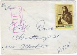 """Enveloppe 1978 POLSKA Pologne / Timbre Peintre Raphaël / Griffe """" Nie Cenzurowano"""" ( Pas De Censure) - Covers & Documents"""