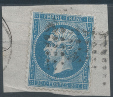 Lot N°59490  N°22/fragment, Oblit Losange Des Ambulants à Déchiffrer - 1862 Napoleon III