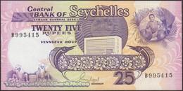 TWN - SEYCHELLES 33 - 25 Rupees 1989 Prefix B - Signature: Guy Morel UNC - Seychelles