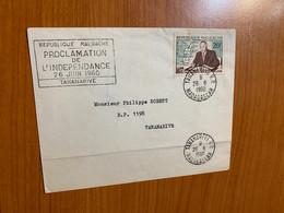 Lettre Madagascar 1960 - Cachet Proclamation De L 'indépendance 26 Juin 1960 - Unclassified