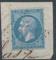 Lot N°59492  N°22/fragment, Oblit GC 3101 Réignier, Haute-Savoie (89), Ind 7 - 1862 Napoleon III