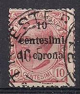 REGNO D'ITALIA TRENTO E TRIESTE 1919  FRANCOBOLLI D'ITALIA DEL 1901-18 SOPRASTAMPATI SASS. 4 USATO VF - Trentin & Trieste