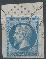 Lot N°59495  N°22/fragment, Oblit GC 447 Bergerac, Dordogne (23) - 1862 Napoleon III