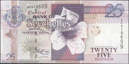 TWN - SEYCHELLES 37b - 25 Rupees 2008 Prefix AE - Signature: Francis Chang Leng UNC - Seychelles
