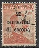 REGNO D'ITALIA TRENTO E TRIESTE 1919  FRANCOBOLLI D'ITALIA DEL 1901-18 SOPRASTAMPATI SASS. 5 USATO VF - Trentin & Trieste