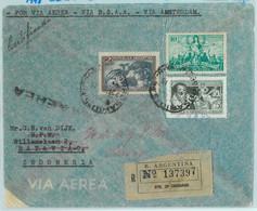 93965 -  ARGENTINA - POSTAL HISTORY - REGISTERED COVER To INDONESIA 1948 Cervantes - Cartas