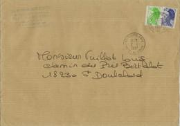 Lettre Avec 2 Liberté De Gandon N°2240 Et 2188 (oblitération Du 02/02/1987) - 1961-....