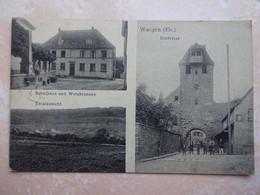 CPA 67 WANGEN Schulhaus Und Weinbrunnen - Other Municipalities