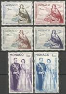 MONACO CORREO AEREO YVERT NUM. 73/78 * SERIE COMPLETA CON FIJASELLOS - Airmail