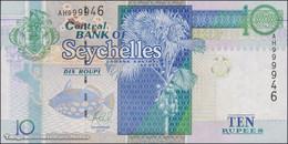 TWN - SEYCHELLES 42 - 10 Rupees 2013 Prefix AH - Signature: Caroline Abel UNC - Seychelles