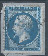 Lot N°59501  N°22/fragment, Oblit GC 3132 Richelieu, Indre-et-Loir (36), Ind 4 - 1862 Napoleon III