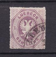 Luebeck - 1865 - Michel Nr. 14 - Gestempelt - 110 Euro - Lubeck
