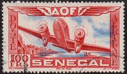 Sénégal Obl. N° PA 30 - Avion Survolant L'Afrique, Le 100f Rouge Et Outremer - Aéreo