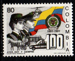 A923K-COLOMBIA- 1991 - MNH - MI#:1845 - MNH - NATIONAL POLICE 100 YEARS - Colombia
