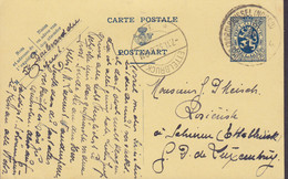 Belgium Postal Stationery Ganzsache Entier BRUXELLES Brussel 1932 ETTELBRUCK (Arr.) Schieren Luxembourg (2 Scans) - Postales [1909-34]