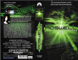 """""""ROSWELL: THE ALIENS ATTACK"""" -jaquette SPECIMEN Originale CIC VIDEO - Fantascienza E Fanstasy"""