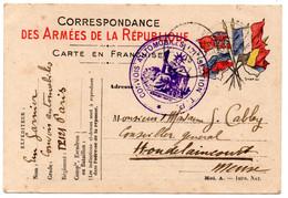 FRANCHISE MILITAIRE - CPFM - CORRESPONDANCE MILITAIRE -  CARTE FM - 1914. - Cartes De Franchise Militaire