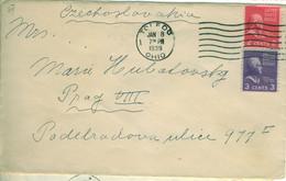 USA 1938 Health Greetings Sticker On Cover To Prague - Briefe U. Dokumente