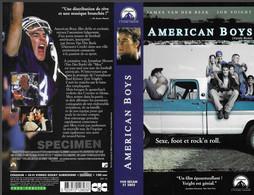 """AMERICAN BOYS"" -jaquette SPECIMEN Originale CIC VIDEO -sexe, Foot Et Rock'n Roll - Action, Adventure"