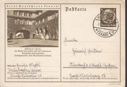 Saar Vorläufer Deutsches Reich Postal Stationery Ganzsache OFFENBACH Lernt Deutschland Kennen NEUKIRCHEN (Saar) 1935 - Covers & Documents