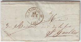 Cachet Type 12 EXIDEUIL Dordogne Lettre En FRANCHISE Avec Texte 1833 - 1801-1848: Precursori XIX