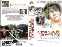 """APPARENCES TROMPEUSES"" -jaquette SPECIMEN Originale PARAMOUNT VIDEO -happy Face Murders - Crime"
