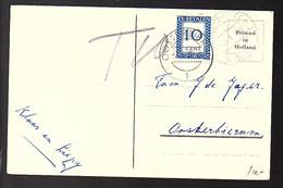 Kerstkaart Met Port Belast! OOSTERBIERUM 1960 (FB-19) - Postage Due
