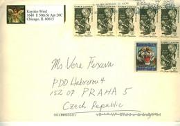 USA Cover To Prague Czech Republic - Cartas