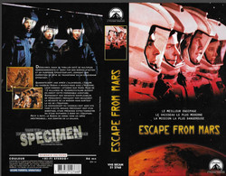 """ESCAPE FROM MARS"" -jaquette SPECIMEN Originale PARAMOUNT VIDEO -SCIENCE-FICTION - Fantascienza E Fanstasy"