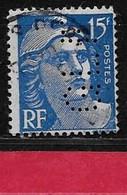 Q3  Perfin France Perfore GLF 86 Sur Gandon N° 886 - Perfins