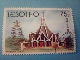LESOTHO - Timbre De 1980 : Chapelle Universitaire De Rome - Lesotho (1966-...)