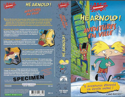 """HE ARNOLD!"" -jaquette SPECIMEN Originale PARAMOUNT VIDEO -aventures En Ville - Cartoons"