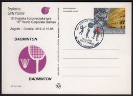 Croatia Zagreb 2005 / 16th World Corporate Games / Tennis, Golf, Basketball / Badminton - Bádminton